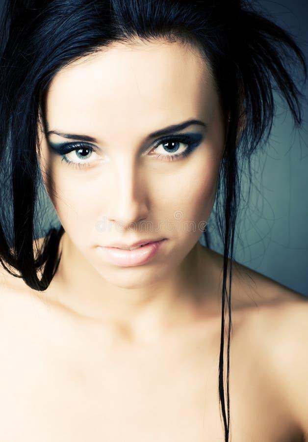 brunette portrait soft woman young στοκ εικόνες