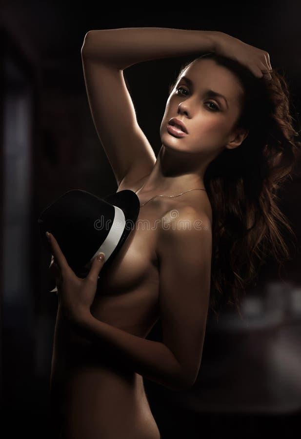Download Brunette posing stock photo. Image of nude, elegant, healthy - 16541834