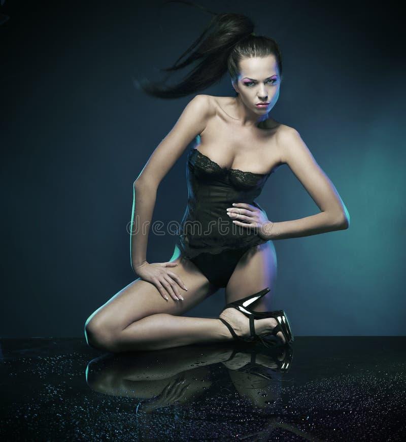 Brunette 'sexy' foto de stock
