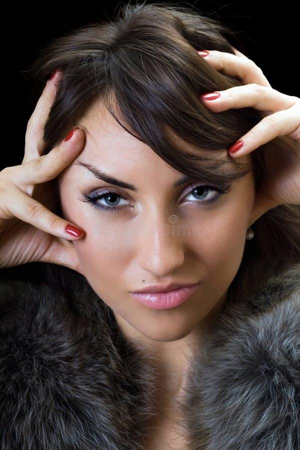Brunette sexy immagini stock