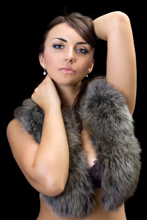 Brunette sexy fotografia stock