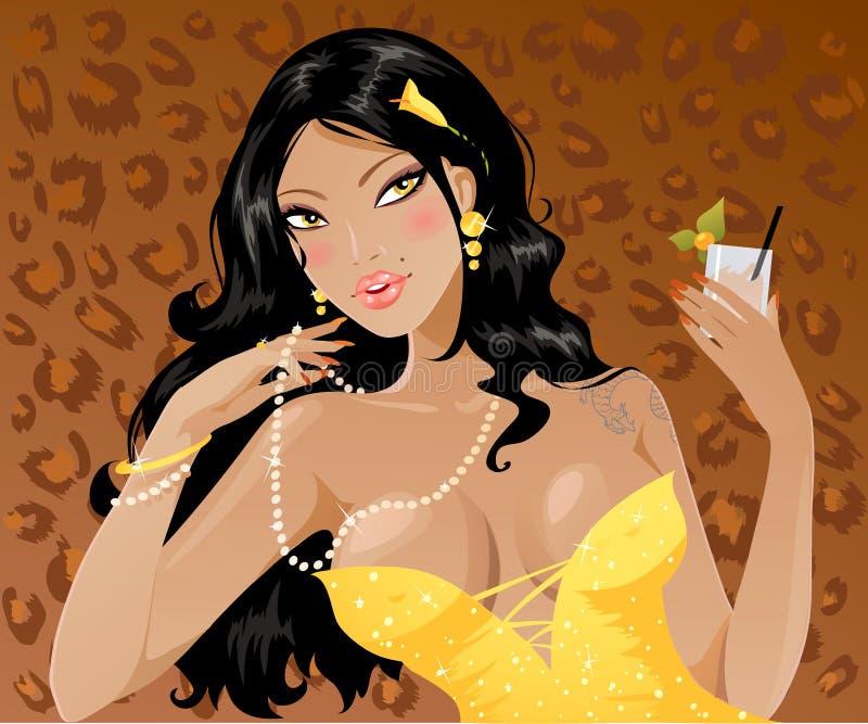 Brunette 'sexy' ilustração royalty free