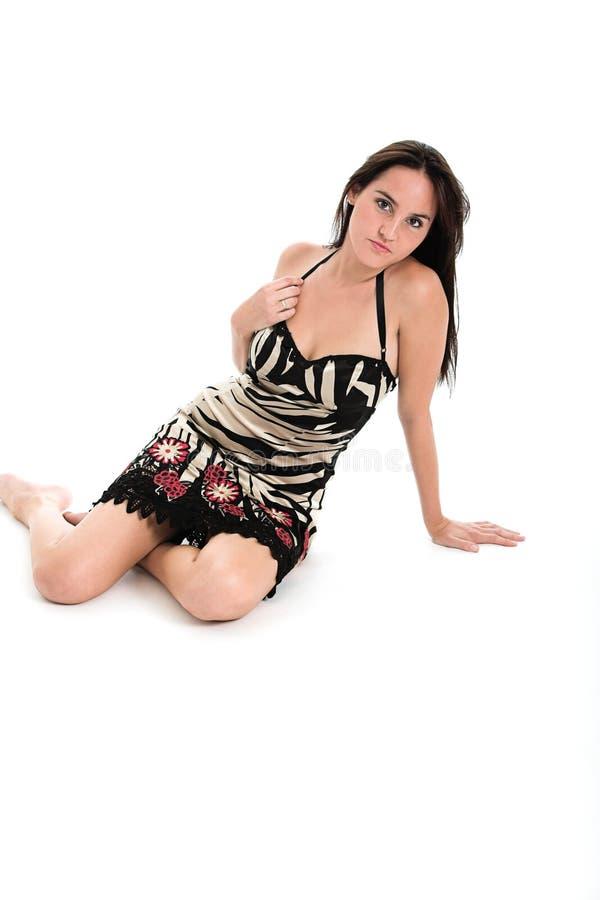 Morena 'sexy' no pijama  fotos de stock royalty free