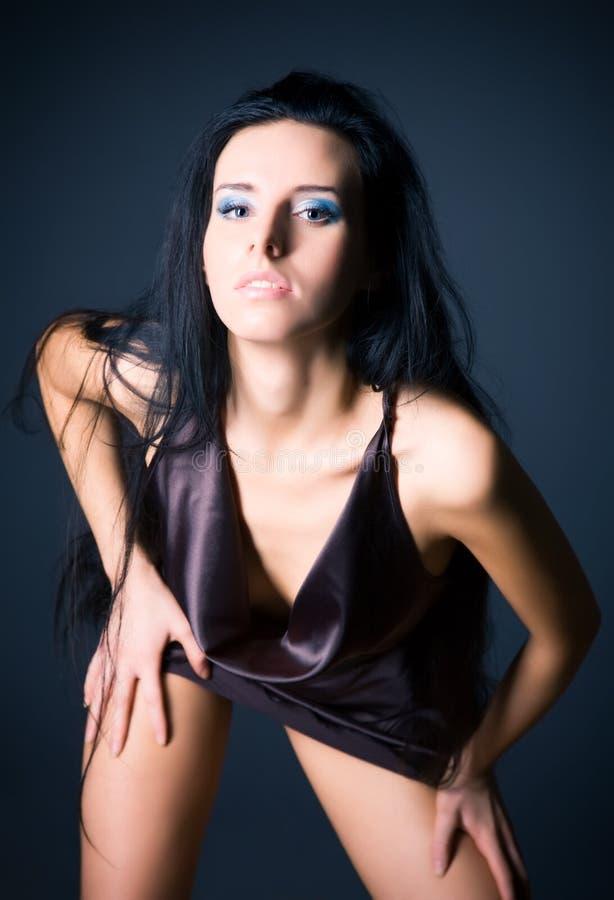 brunette sexy slim woman στοκ φωτογραφίες