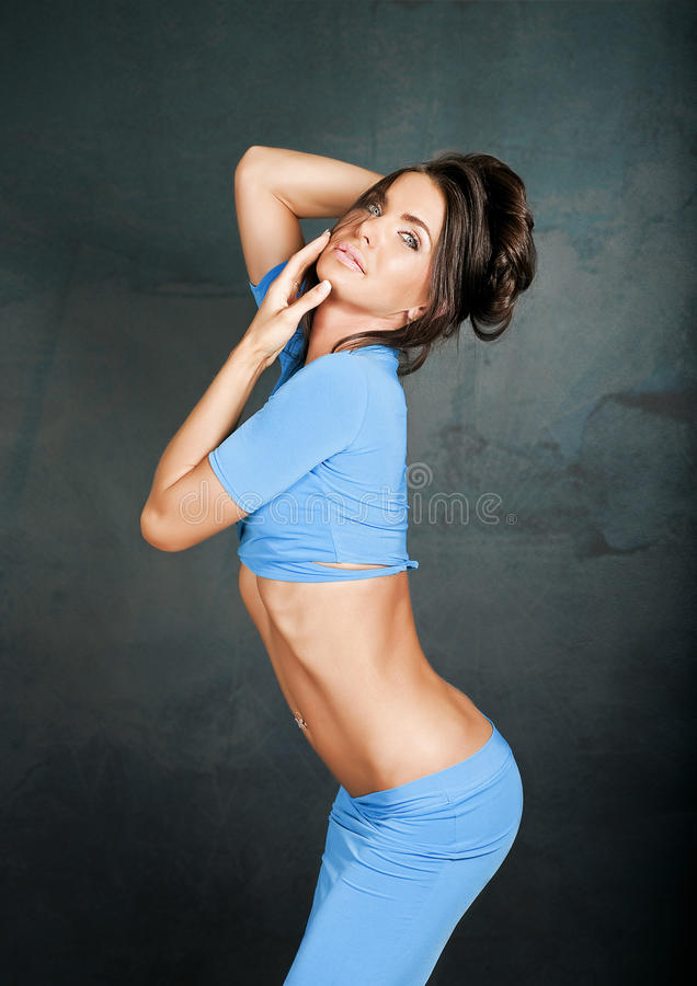 Download Brunette women stock image. Image of young, body, expression - 25347109