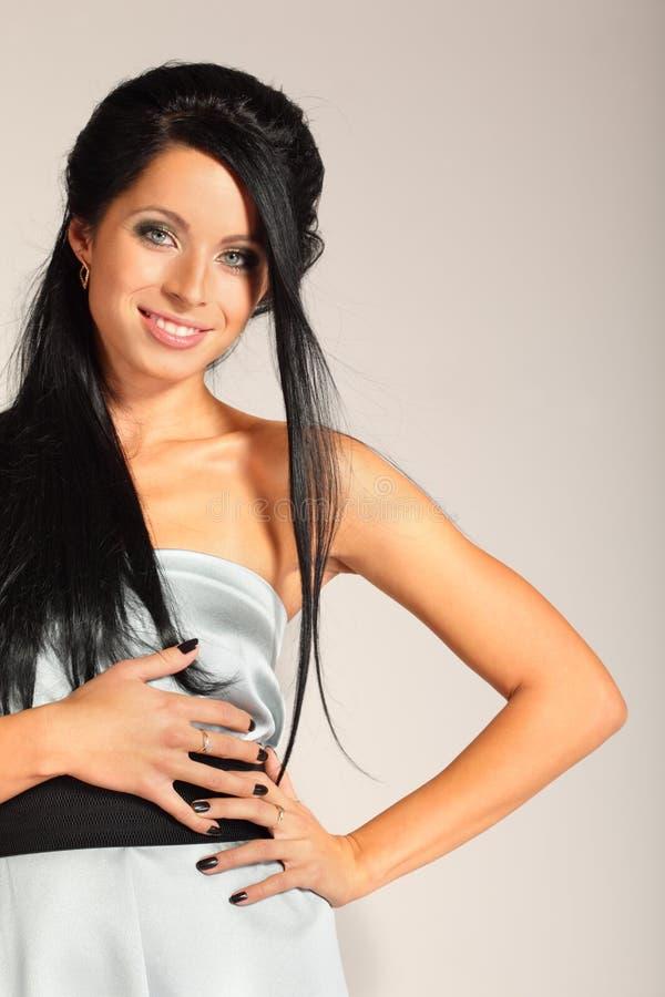 Download Brunette Smart Woman Looks Inscrutable Stock Image - Image: 22312375
