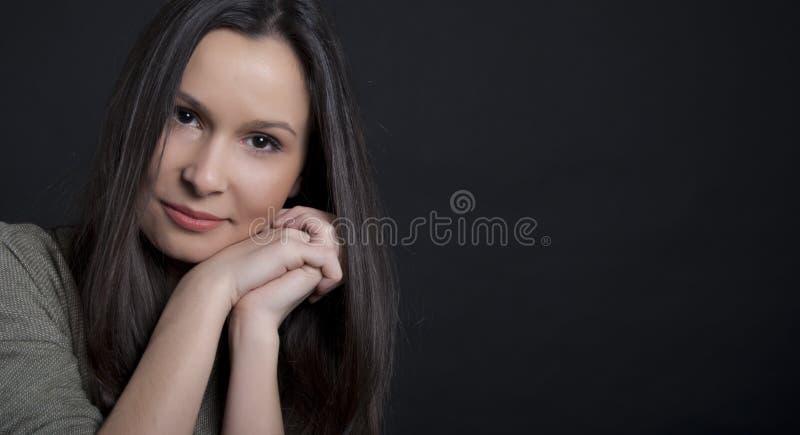 Brunette Smiling Stock Photos