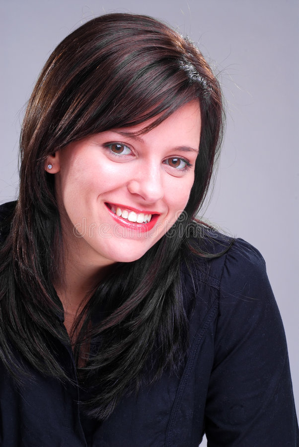 brunette smiling στοκ εικόνες με δικαίωμα ελεύθερης χρήσης