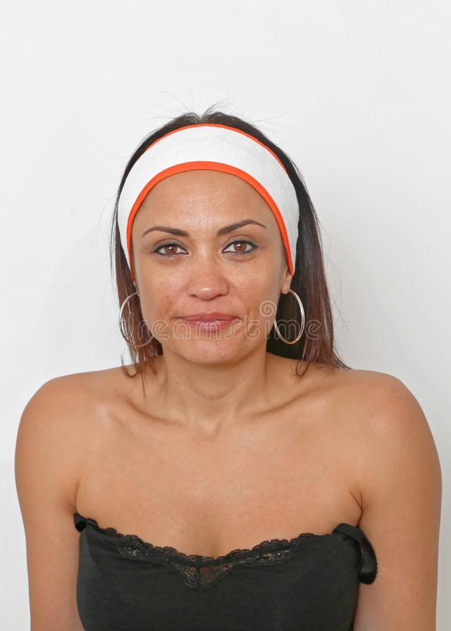 Brunette Stirnband lizenzfreies stockbild