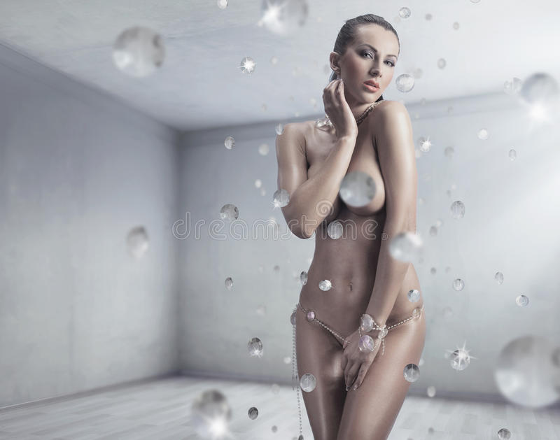 Brunette stunning sexy fotografie stock libere da diritti