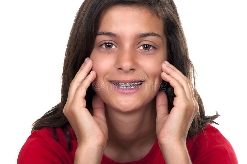 Download Brunette Teen Girl With Braces Stock Photography - Image: 20820222