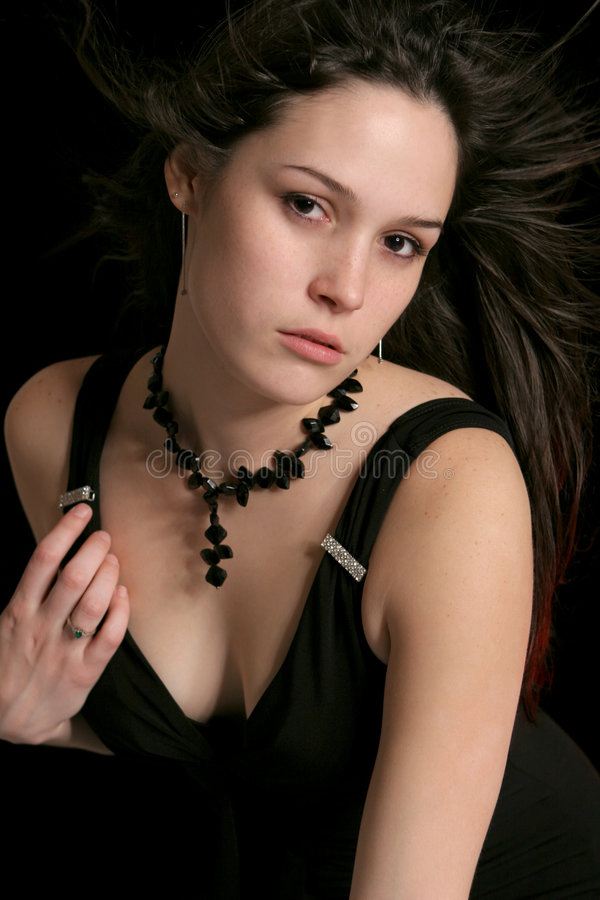 Brunette tradicional da forma fotos de stock royalty free