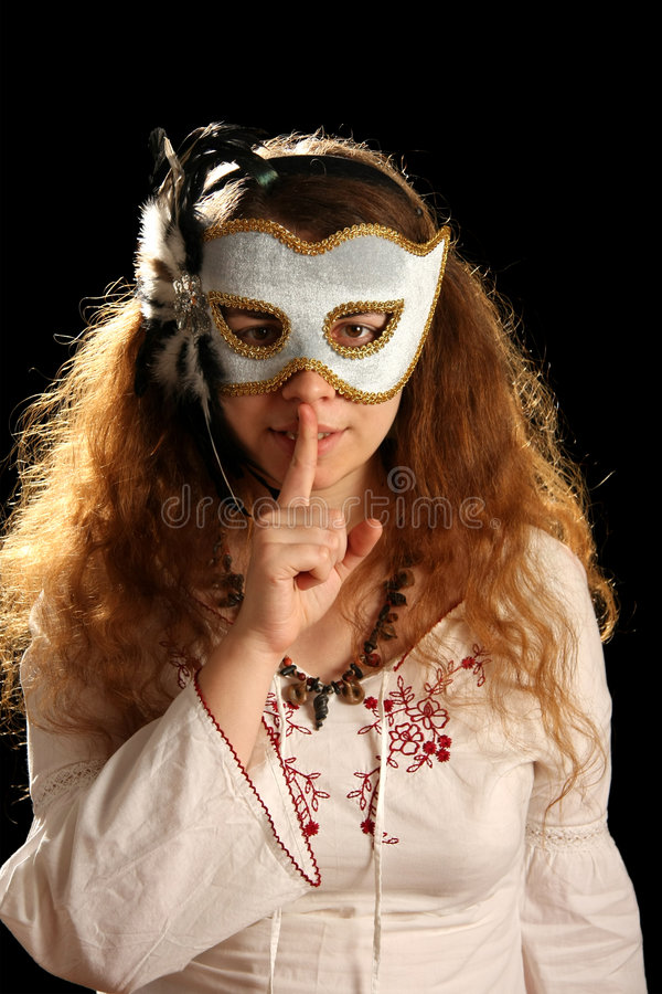 Download Brunette With Venetian Mask Stock Photo - Image: 7226650