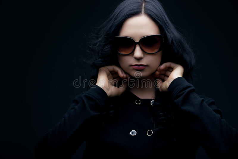 Download Brunette Wearing Sunglasses Stock Photo - Image: 23806552
