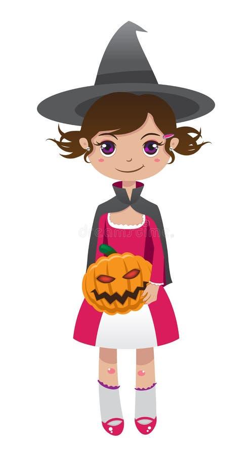 Download Brunette witch stock vector. Illustration of horrible - 21272019