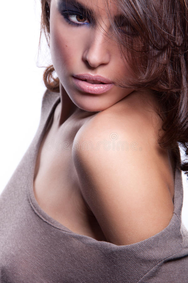Download Brunette woman stock photo. Image of beauty, shoulder - 23300994