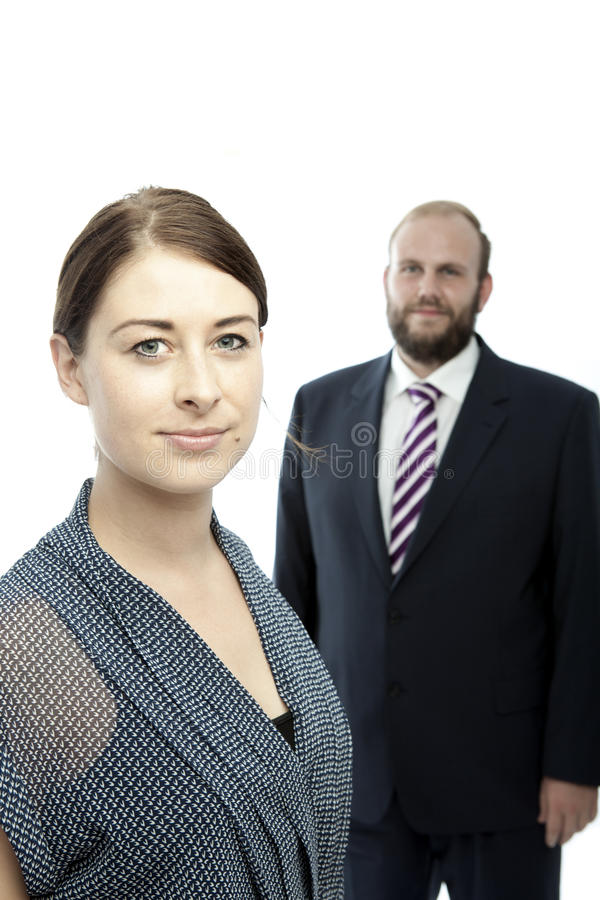 Download Brunette Woman And Beard Business Man Portrait Stock Photo - Image: 26197570