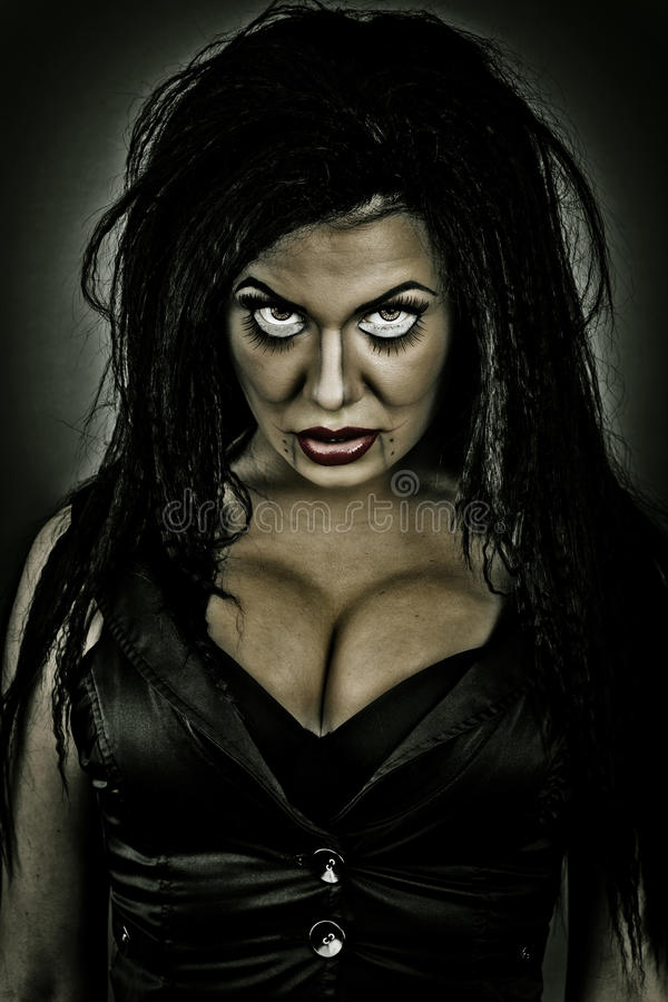 Download Brunette Woman With Creepy Look Stock Photo - Image: 34491776