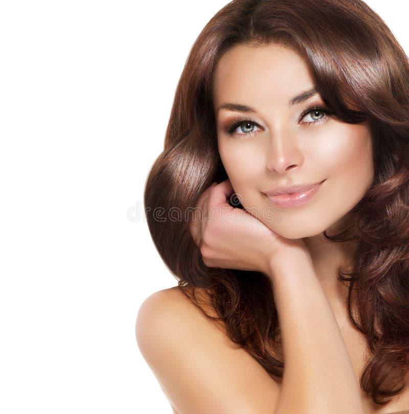 Brunette Woman Portrait stock images