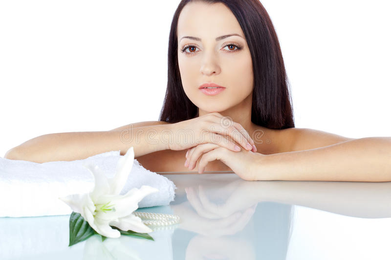 Download Brunette Woman Portrait With Clear Skin Royalty Free Stock Photos - Image: 24437068