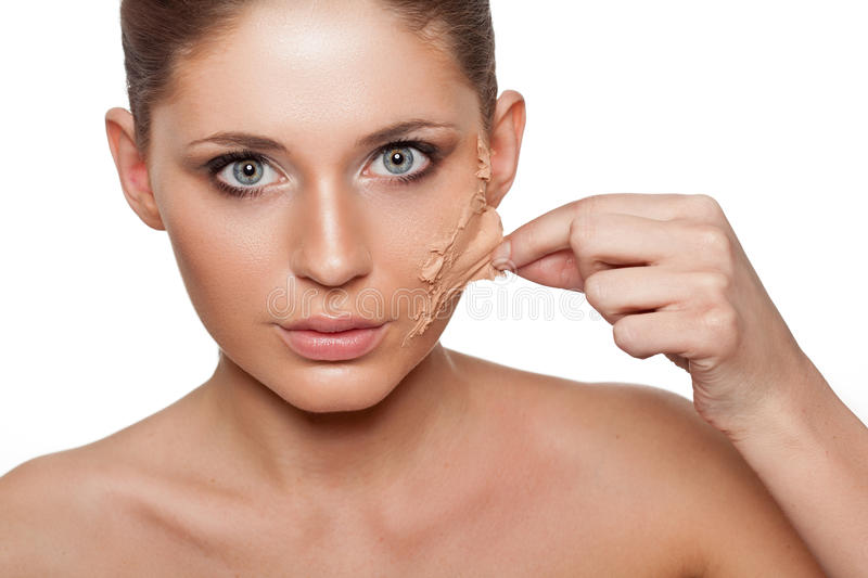 Download Woman Taking Off Her Skin From Face Stock Photo - Image: 29752078