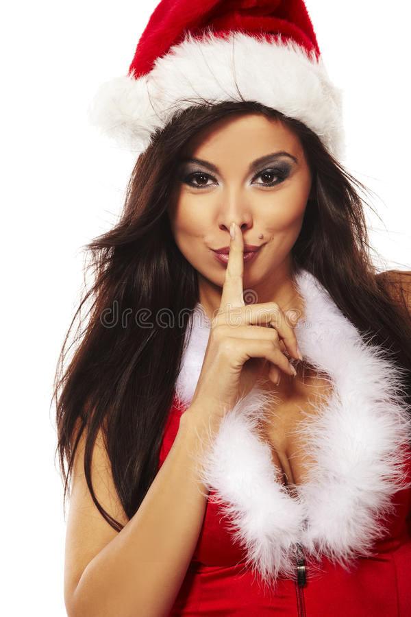 Free Brunette Woman Wearing Santa Claus Cl Stock Photo - 11834290