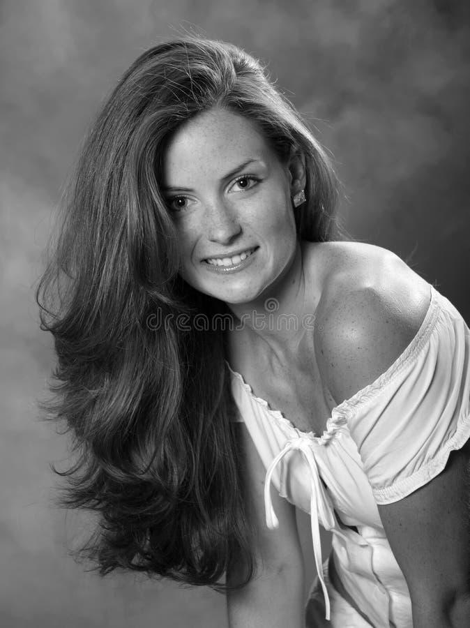 Brunette women. Beautiful elegant young brunette woman stock image