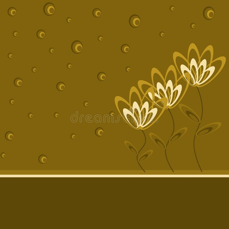 Brunissez les fleurs illustration de vecteur