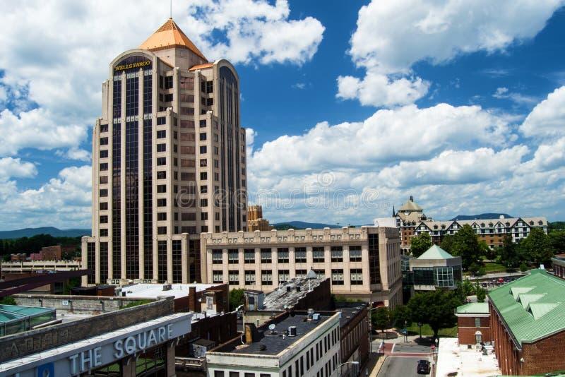 Brunnar Fargo Tower - Roanoke, Virginia, USA arkivfoto