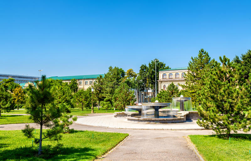 Brunnen auf Amir Temur Square in Taschkent, Usbekistan stockfotografie