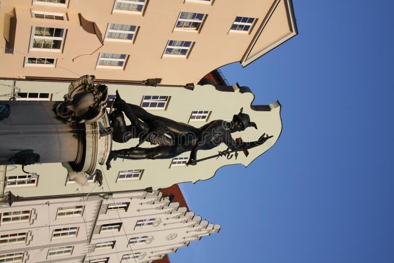 Brunnen in Augsburg lizenzfreie stockbilder
