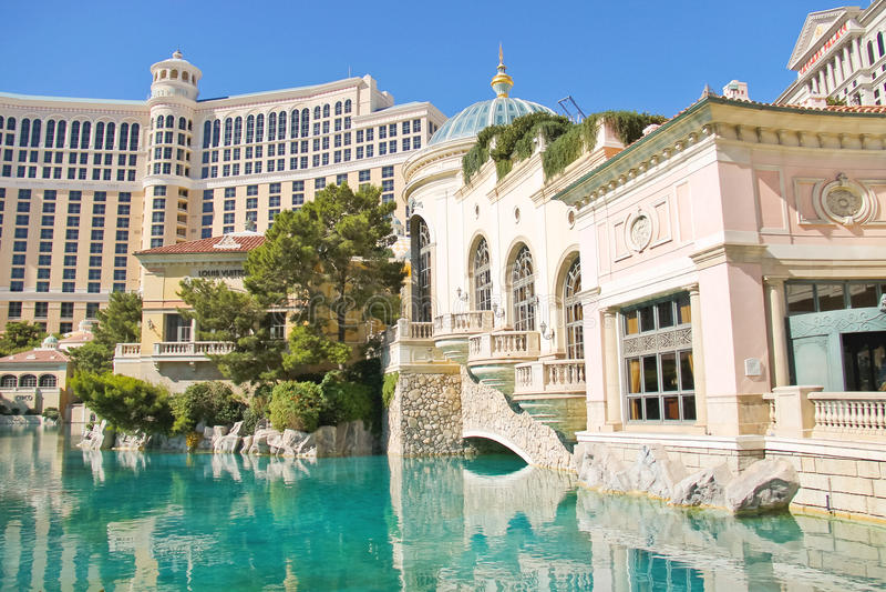Brunnen in Bellagio-Hotel in Las Vegas stockbild