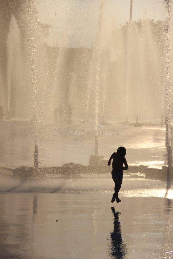 Brunnen, Corona Park stockbilder