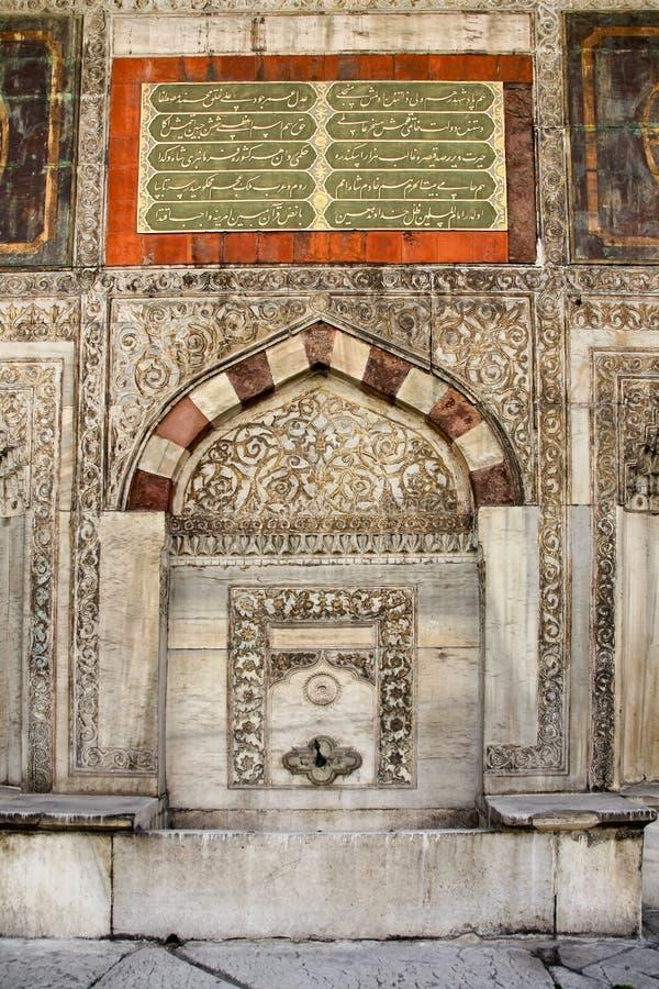 Brunnen des Sultans Ahmed III, stockfotografie