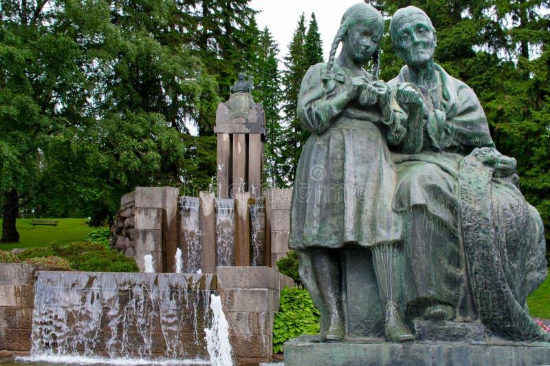 Brunnen durch Emil Wikstrom lizenzfreie stockbilder