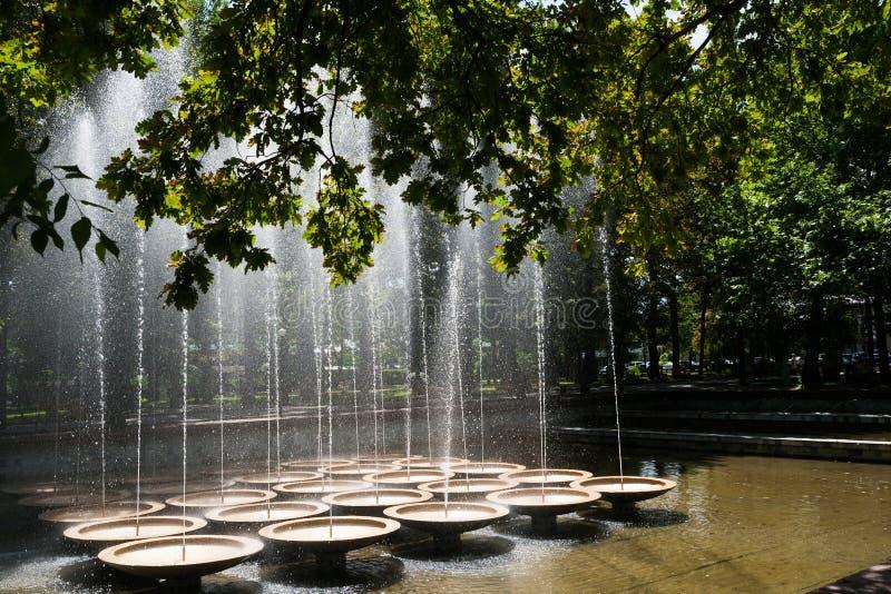 Brunnen im Stadtpark lizenzfreies stockbild