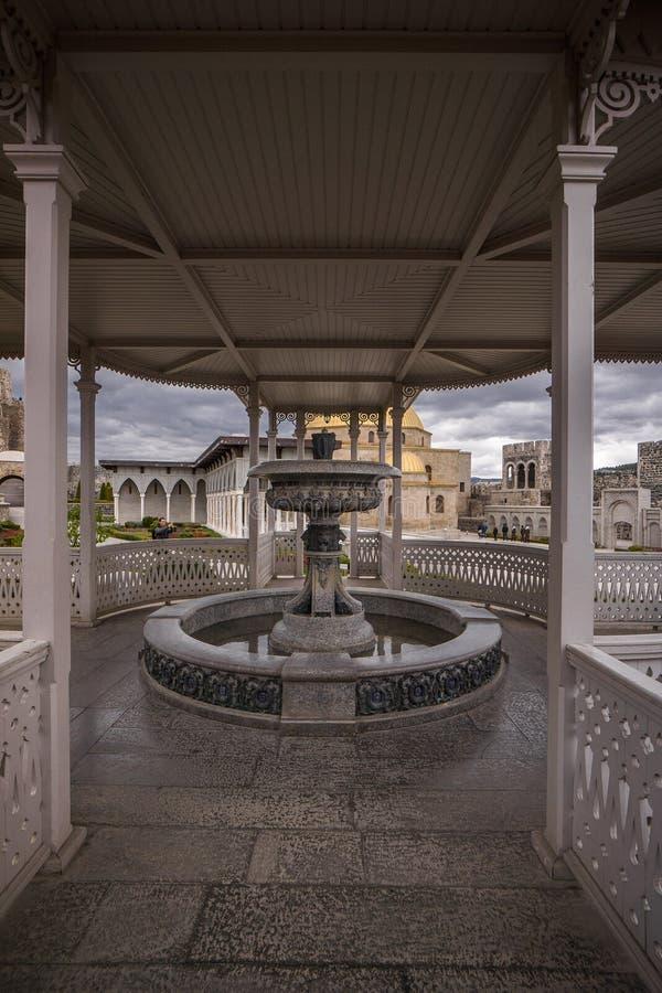 Brunnen innerhalb rabati Festung stockfotografie