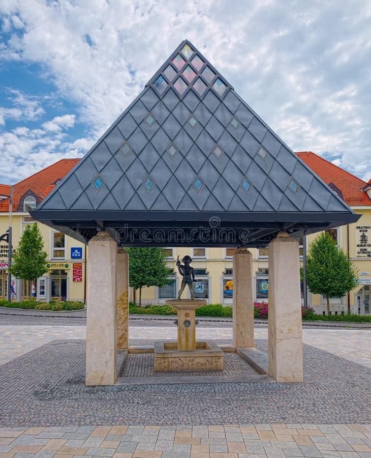 Brunnen in Keszthely, Ungarn lizenzfreies stockbild