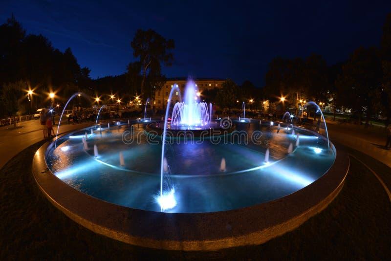 Brunnen in Krynica lizenzfreies stockfoto