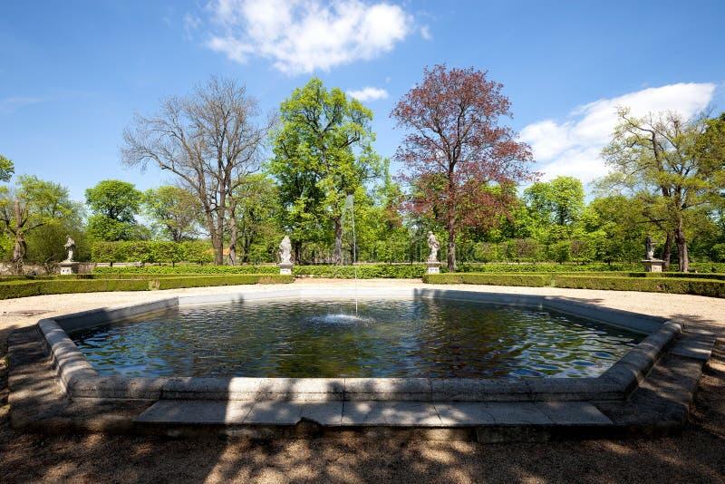 Brunnen am Park lizenzfreies stockbild