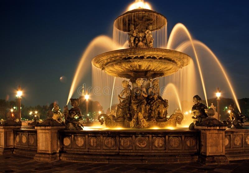 Brunnen, Place de la Concorde, Paris. stockbild