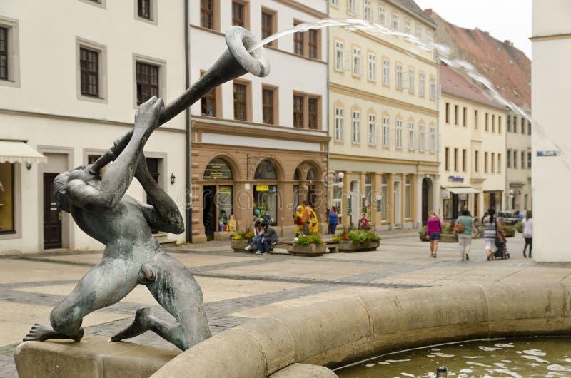 Brunnen in Torgau stockbild