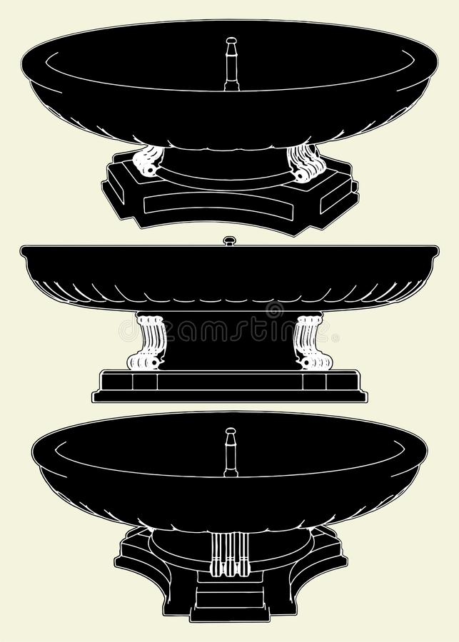Brunnen-Vektor 01 lizenzfreie abbildung