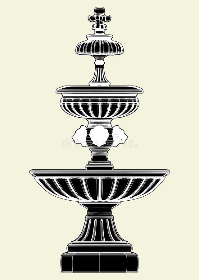 Brunnen-Vektor 03 stock abbildung