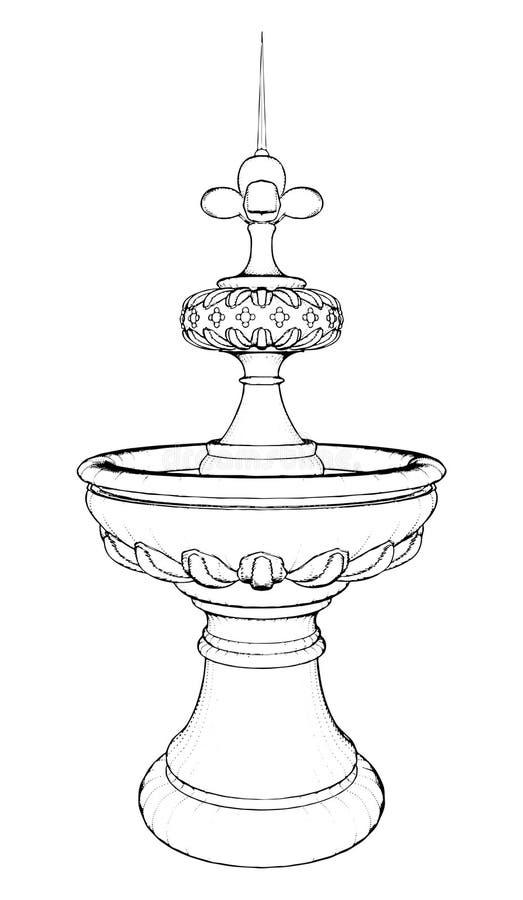 Brunnen-Vektor 04 stock abbildung