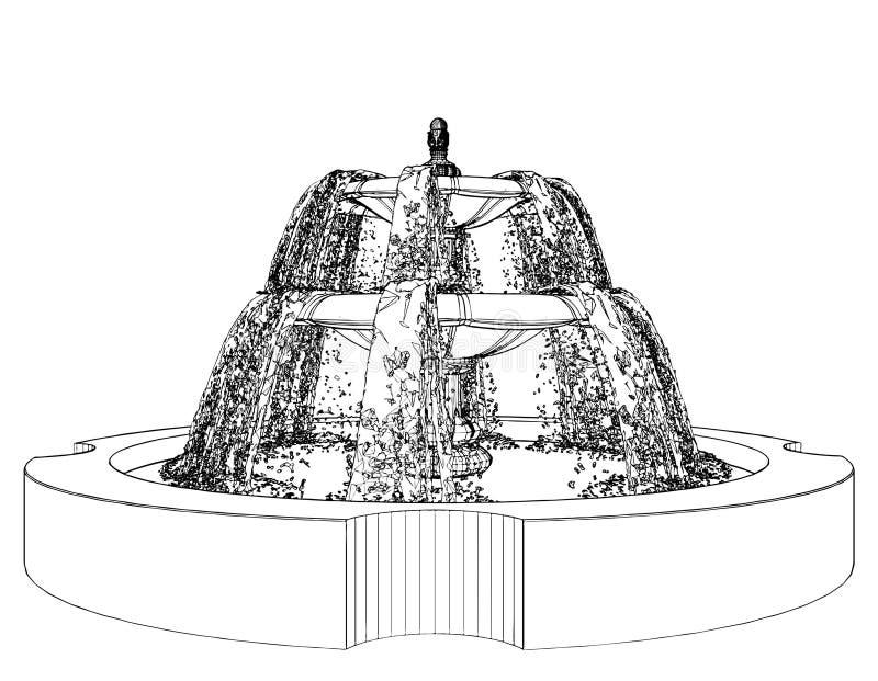 Brunnen-Vektor 08 lizenzfreie abbildung