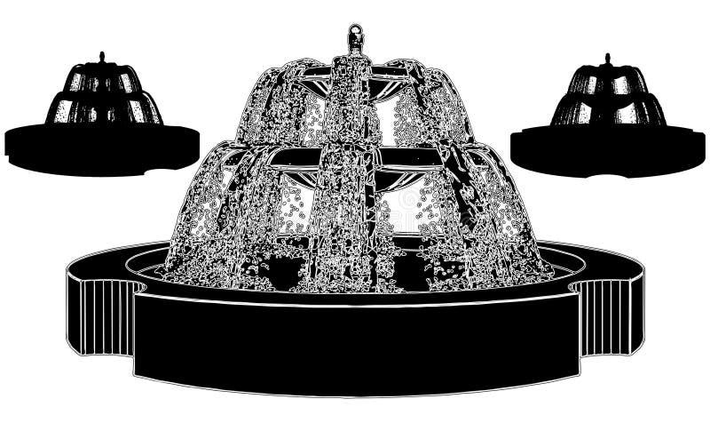 Brunnen-Vektor 09 stock abbildung