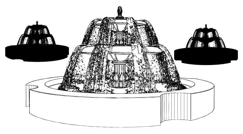 Brunnen-Vektor 10 vektor abbildung