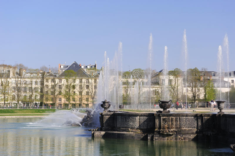Brunnen am Versailles-Palast stockbild