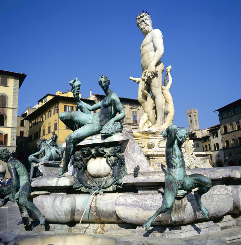 brunnen von neptun in florenz stockbild bild von statue drau en 21041939. Black Bedroom Furniture Sets. Home Design Ideas